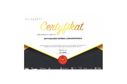 Kaczmarski certyfikat
